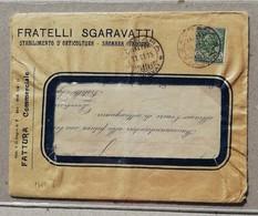 Perfin - Fattura Commerciale Fratelli Sgaravatti Stabilimento D'Orticoltura, Saonara (PD) - 1915 - 1900-44 Vittorio Emanuele III