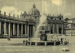 CITA DEL VATICANO  PIAZZA  S PIETRO  PARTICOLARE  Autobus 's  RV Beaux Timbres Poste Vaticanr 15 X2 - Vaticano (Ciudad Del)
