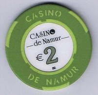 Casino Chip Fiche 2€ Namur Belgium Belgique - Casino