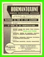 ADVERTISING - PUBLICITÉ - LABORATOIRE PHYGIÈNE - HORMANTOXONE - VIEILLES ABBAYES DE FONTEVRAULT, LES CUISINES - - Publicité