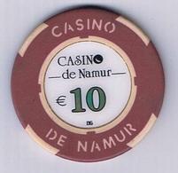 Casino Chip Fiche 10€ Namur Belgium Belgique - Casino