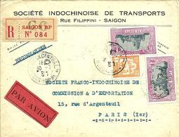 REC.par AVION De La SOCIETE INDOCHINOISE De TRANSPORTS à SAIGON Pour PARIS  -1931 - - Indochina (1889-1945)