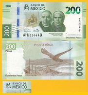 Mexico 200 Pesos P-new 2019 Sign. Espinosa Cantellano & Alegre Rabiela UNC Banknote - Messico