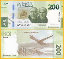 Mexico 200 Pesos P-new 2019 Commemorative Sign. Guzmán Calafell & Alegre Rabiela UNC Banknote - Mexiko