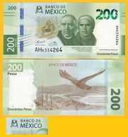 Mexico 200 Pesos P-new 2019 Sign. Díaz De León & Alegre Rabiela UNC Banknote - Messico