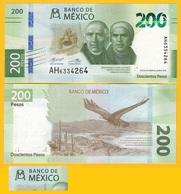 Mexico 200 Pesos P-new 2019 Sign. Díaz De León & Alegre Rabiela UNC Banknote - Mexiko