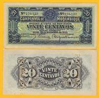 Mozambique 20 Centavos P-R29 1933 Companhía De Moçambique UNC Banknote - Mozambique