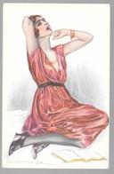 Cpa...illustrateur Italien...Bompard .S...art Nouveau...femme Lectrice... - Bompard, S.