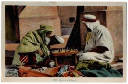 CPA ALGERIE - 1205. Joueurs D'échecs - Argelia