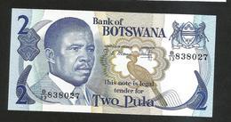 BOTSWANA - BANK Of BOTSWANA - 2 PULA (1982) - Botswana
