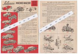 Jouet SCHUCO Feuille Publicitaire  VW Coccinelle....1950 - Publicités