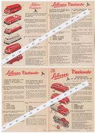 Jouet SCHUCO Feuille Publicitaire 1950 - Publicités
