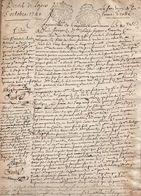 Dépots De Loyer 1741 Signé Abbé De Bethume , Joseph De Castro De Mendonca ...... - Manuscripts