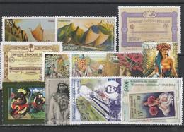 LOT 2000 POLYNESIE N°1042-1043-1044-1045-1054-1055-1056-1057-1058-1070-1072-107- BLOC N° 42 FACIALE** - Polynésie Française