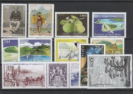 LOT 2001 POLYNESIE N°994-995-997-998-999-1000-1007-10081009-1010-1011-1012- BLOC N° 38 FACIALE** - Polynésie Française