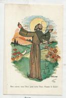 Saint François D'Assise. Cantique Des Créatures. Signée Marie Jaminet. - Santi