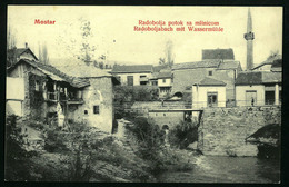 MOSTAR  RADOBOLJA, BOSNIA 1907  VF USED POSTCARD - Bosnië En Herzegovina
