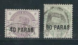 LEVANT Anglais N° 1 & 2 Obl. - British Levant