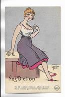 """Carte Humoristique """" Nos Dict-on """" Illustrée Par GRIFF - Lire La Légende Ci-dessous - Griff"""