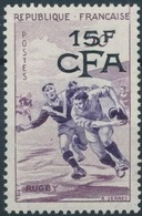 REUNION CFA Poste 329 ** MNH Rugby Sport Gravue De Serres Surchargé 15 F CFA (CV 12 €) - Neufs