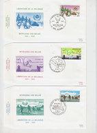1945  Lot 3 Enveloppes Libération De La Belgique - 1939-45