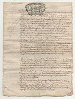 Normandie Aveu à Messire Urbain Aubert De Tourny 1722 - Manuscripts
