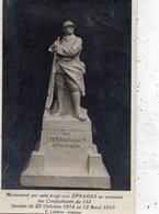 MONUMENT QUI SERA ERIGE AUX EPARGES EN SOUVENIR DES COMBATTANTS DU 132 TOMBES DU 25 OCTOBRE 1914 AU 12 AVRIL 1915 CARTE - Otros Municipios