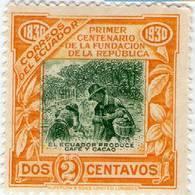 Lote EC96, Ecuador, 1930, Sello, Stamp, Café Y Cacao, Coffee And Cocoa, Woman - Ecuador