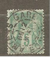FRANCE   N°75  (SAGE N/U. . OBL  AMIENS - GARE Sur Fragment - 1876-1898 Sage (Type II)