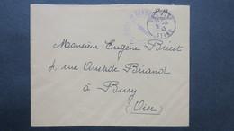 Lettre Octobre 1943 En Franchise De La Légion De Gendarmerie De Drancy ( Brigade 89 ) Pour Bury Oise - Marcophilie (Lettres)