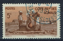 French Somali Coast, 5f., Village And Well, 1947, VFU - Used Stamps