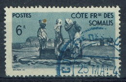 French Somali Coast, 6f., Village And Well, 1947, VFU - Used Stamps
