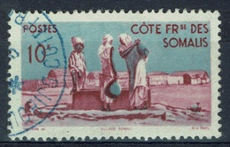 French Somali Coast, 10f., Village And Well, 1947, VFU - Used Stamps