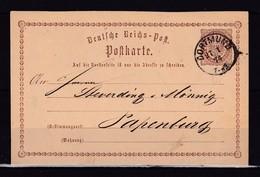 334k * DEUTSCHES REICH * GANZSACHE * VON DORTMUND NACH PAPENBURG '1874 **! - Alemania