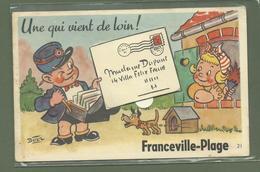 CARTE POSTALE SYSTEME  14 CALVADOS FRANCEVILLE PLAGE - France