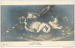 ANX1    010   CHATS  AU REPOS / Signé   J. LEROY  1910 - Gatti