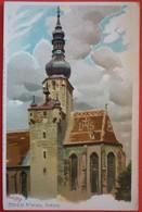 BADEN BEI WIEN - KIRCHE , OLD LITHO - Baden Bei Wien
