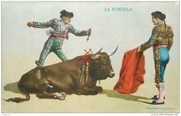 ANX1    140 .. TAUREAU  .LA  PUNTILLA     ESPAGNE CORRIDA. TOREADOR  1909 - Stieren