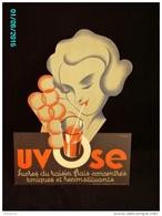 POC1    016  ..FEMME SUCANT UN UVOSE  Jus De Raisin  Signé BONARD  1930. Carton 39x29 .à FORME  T TB - Pappschilder