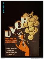 POC1    017  ..FEMME  ET  UVOR  Jus De Raisin  Signé BONARD  1930 /. Carton 42x32 .à Découpe PARFAIT ETAT  AZEMARD NIMES - Pappschilder