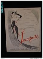 POC1   034   .GAINES INCOGNITO  VETEMENTS MODE FEMME  Signé MERVEY  SOUTIEN GORGE ROUBAIX  Carton Dur 30 X 23 - Pappschilder