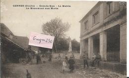 GENNES Grande Rue La Mairie- Mt Aux Morts - Autres Communes