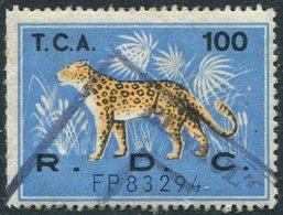 Congo - Kinshasa (Zaire) 1960's LEOPARD Revenue 100 Fiscal Tax Leopardo Gebührenmarke Stempelmarke - Felinos