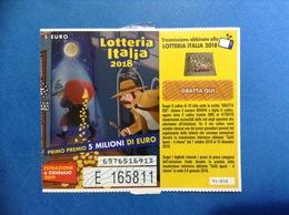 2018 BIGLIETTO LOTTERIA NAZIONALE ITALIA ESTRAZIONE 2019 SOLITI IGNOTI - Biglietti Della Lotteria