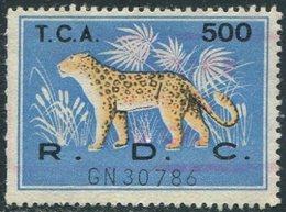 Congo - Kinshasa (Zaire) 1960's LEOPARD Revenue 500 Fiscal Tax Leopardo Gebührenmarke Stempelmarke - Felinos
