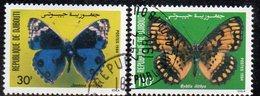 XP3901 - GIBUTI 1984, Due Valori Usati (2380A) Farfalle Papillon - Gibuti (1977-...)