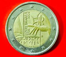 ITALIA - 2009 - Moneta -  200° Anniversario Della Nascita Di Louis Braille - Euro - 2.00 - Italia