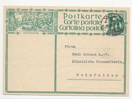 """Schweiz Suisse 1929: Bild-PK CPI """"LENZERHEIDE"""" (Winter-Autobus) Mit Stempel WIL 19.III.29 (ST.GALLEN) Nach Weinfelden - Postwaardestukken"""
