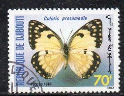 XP4001 - GIBUTI 1988, Colotis Pretomedia Usato (2380A) Farfalla - Gibuti (1977-...)