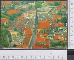 Münster Lambertikirche U Prinzipalmarkt Luftaufnahme Ungelaufen  AK 499 - Münster